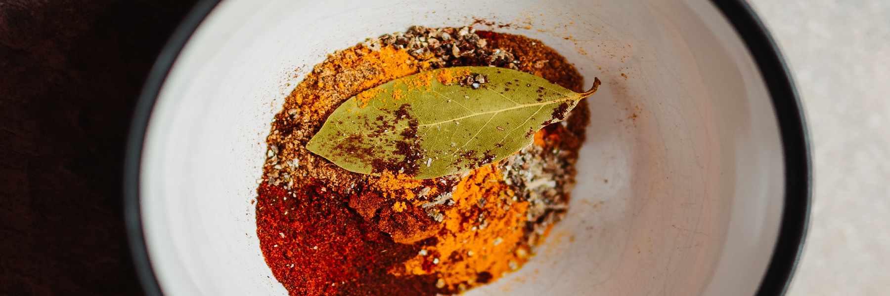 Especias utilizadas para cocinar en la India