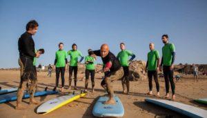 lecciones de surf en la playa