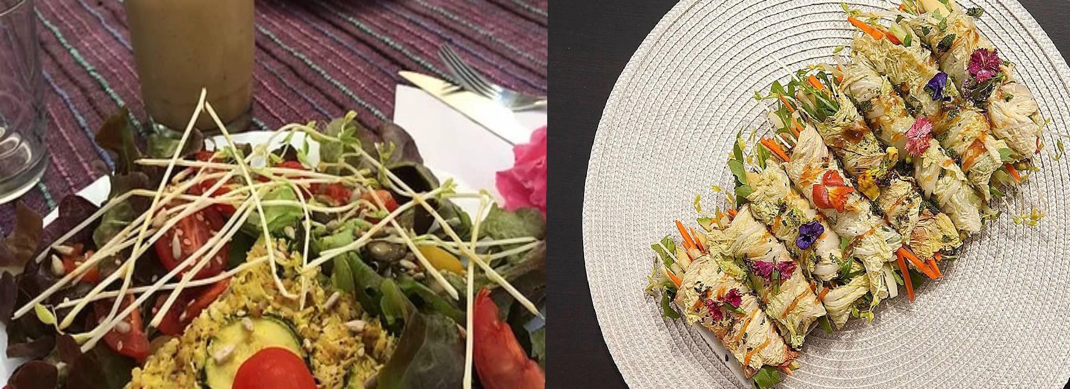 comida saludable en el retiro de yoga de ibiza