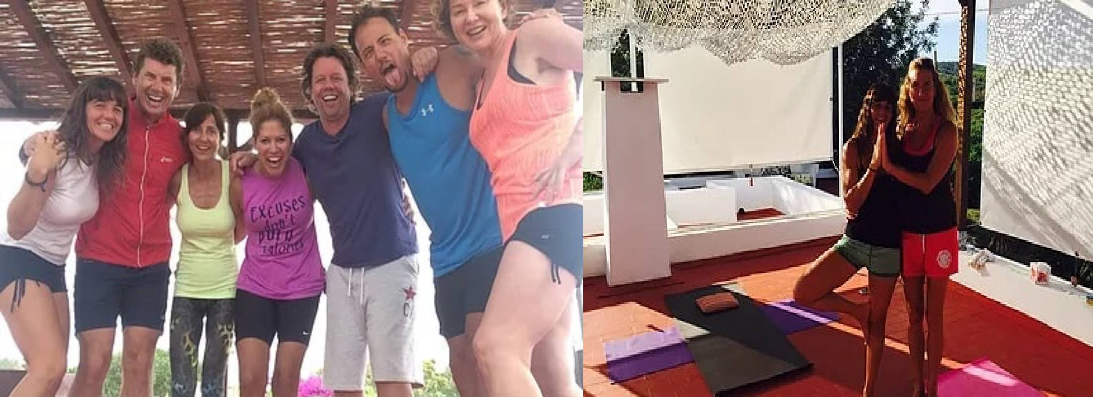practicantes en el retiro de yoga