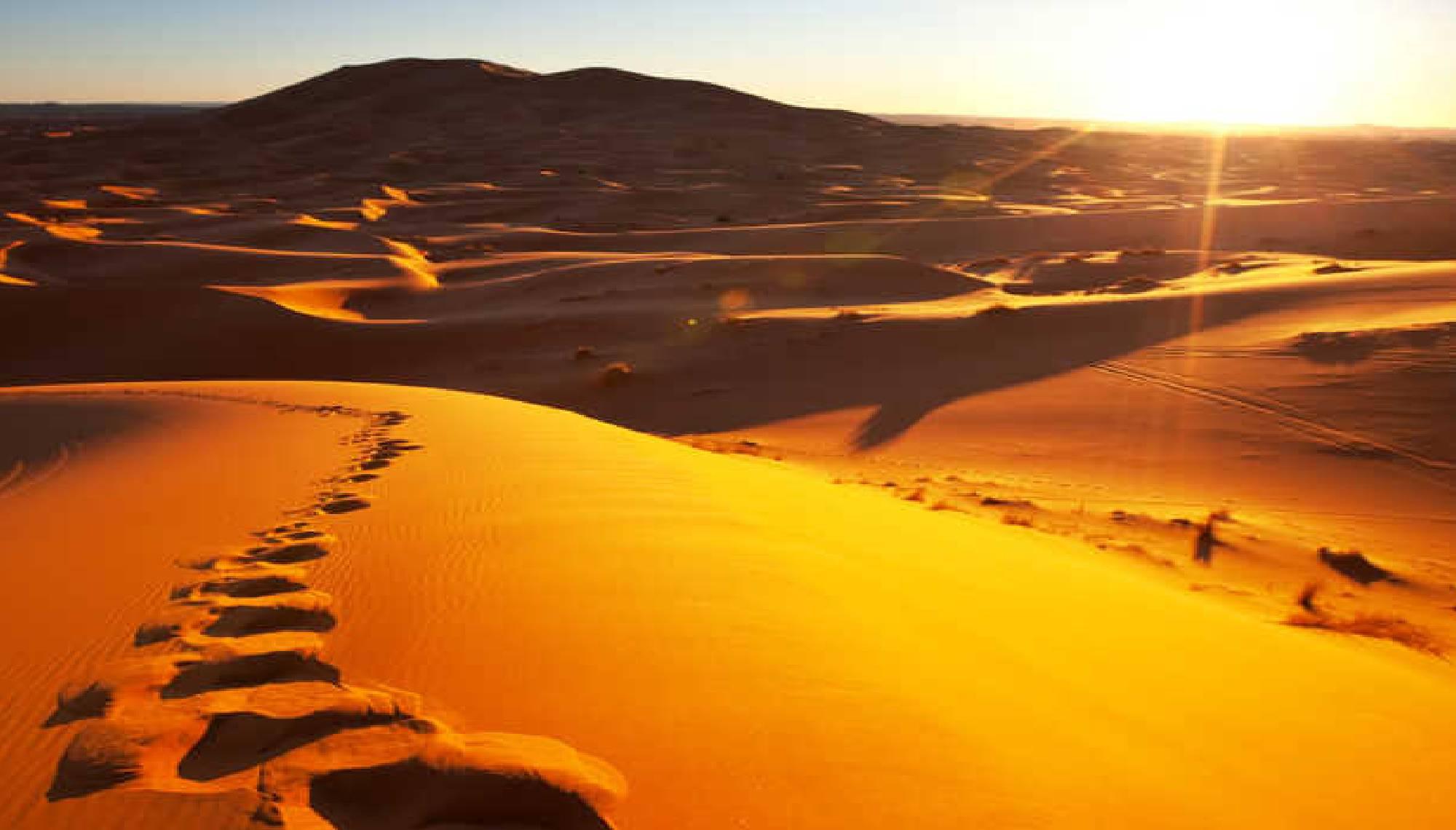 senderismo dunas del sahara