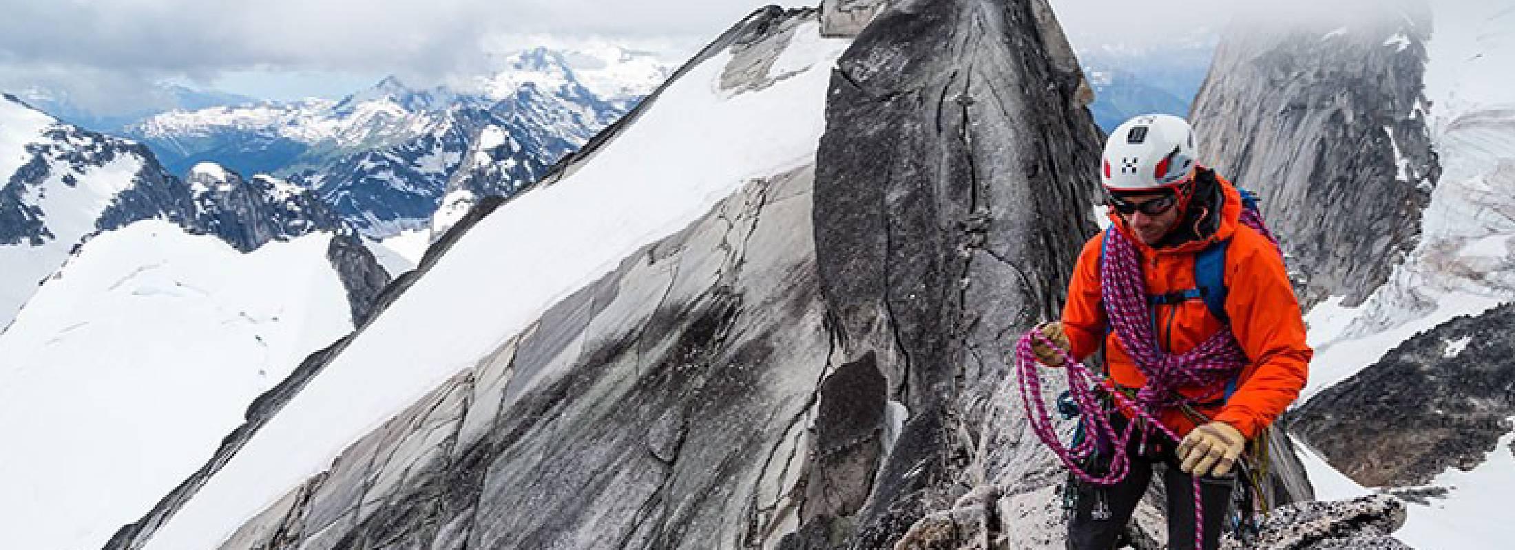 Escalada en roca en invierno
