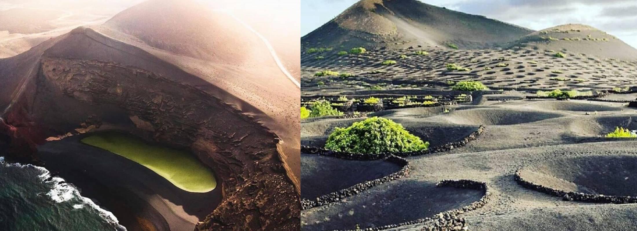 Volcanes en Lanzarote, naturaleza en el retiro de yoga