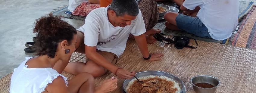 comida con la comunidad áfricana