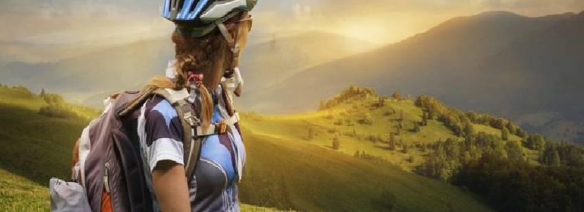 vistas de rincones de ruta ciclista por españa