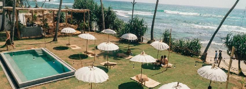 instlaciones del surf camp de sri lanka