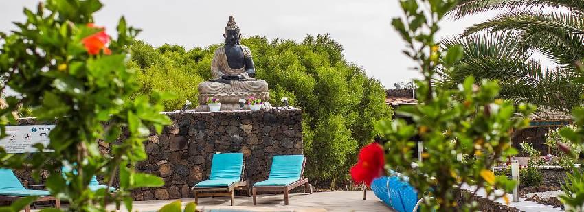 instalaciones exteriores del retiro en Fuerteventura