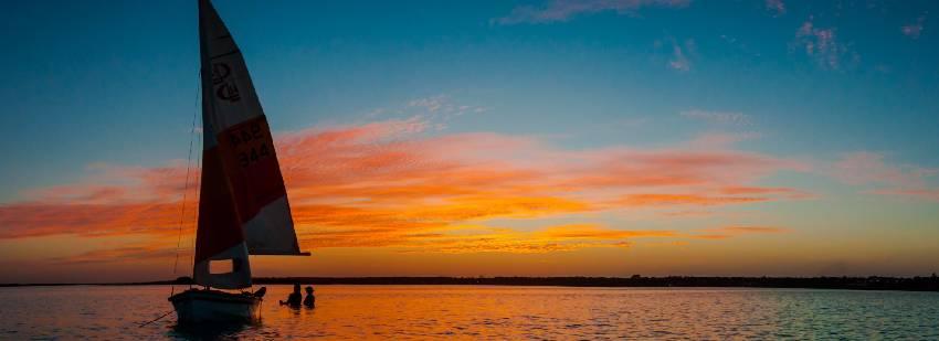 sunset en el velero